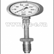 WISE High Temperature Service Pressure Gauge P740