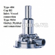 VAN AN TOÀN LESER, Type 484 - Cap H2-Inlet-Vessel connection Type 5034 - Outlet- Welded end connection