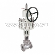 Pneumatic Globe Valve with Top handwheel-Straight stroke series