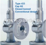VAN AN TOÀN LESER, Type 433 - Cap H2-  Closed bonnet - Conventional design