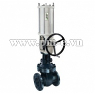 Pneumatic Gate Valve with Side handwheel- Straight stroke series