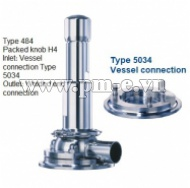 VAN AN TOÀN, Type 484 - Packed knob H4 - Inlet- Vessel connection Type 5034 - Outlet- Welded end connection