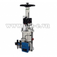 Pneumatic Actuator with Top handwheel-Straight stroke series