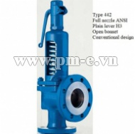 Type 442 Full nozzle ANSI - Plain lever H3 - Open bonnet - Conventional design
