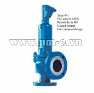 Type 441 Full nozzle ANSI - Packed lever H4 - Closed bonnet - Conventional design