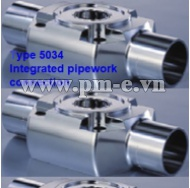 Type 5034 - Integrated pipework - connection